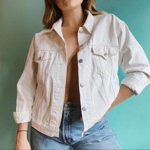 #Levi's White #JeanJacket Size XL